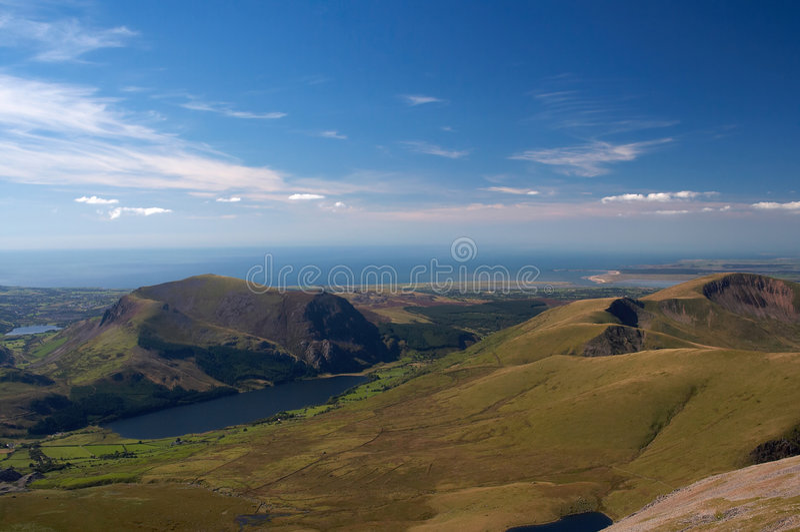 Mountain View del Galles fotografie stock