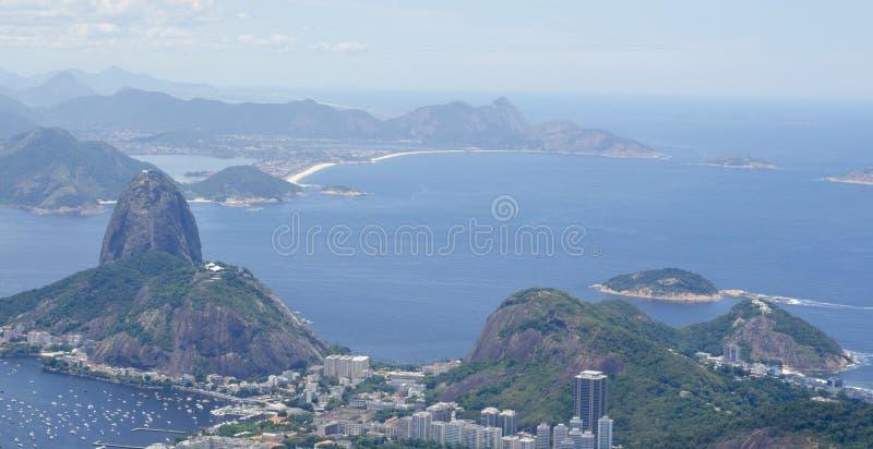 Mountain View del sugarloaf de Rio de Janeiro fotografía de archivo libre de regalías