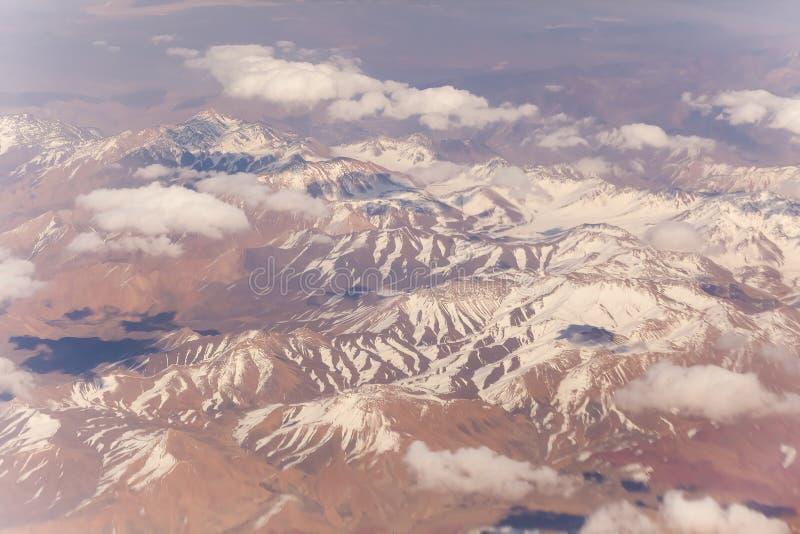 Mountain View desde arriba de un avión del vuelo imagenes de archivo