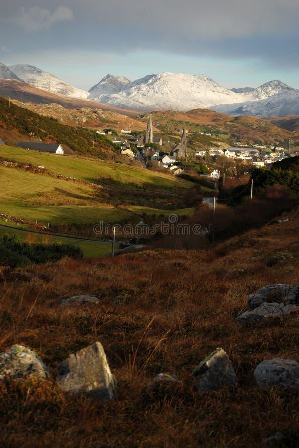 Mountain View di Connemara e di Clifden fotografie stock libere da diritti