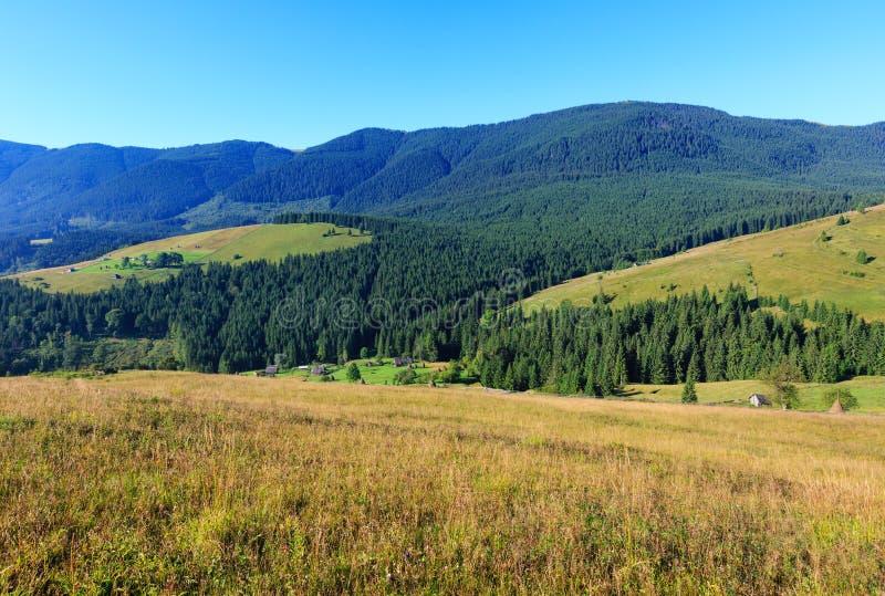 Mountain View di estate (carpatico, Ucraina) immagine stock