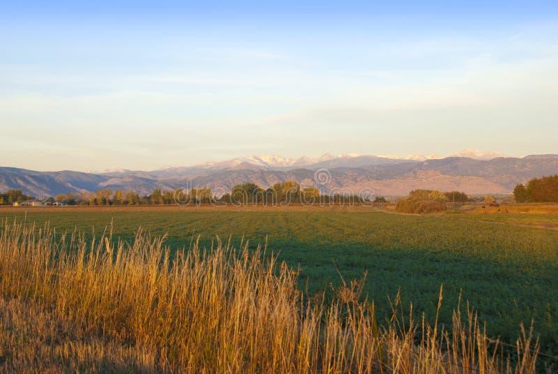 Mountain View do amanhecer fotos de stock