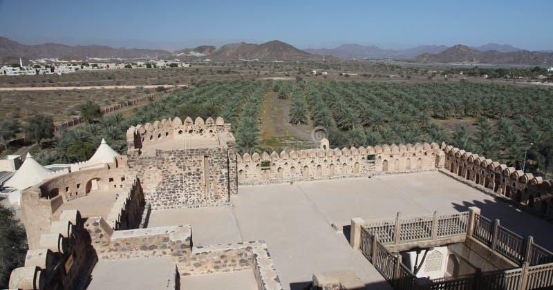 Mountain View do castelo de Jabreen fotografia de stock