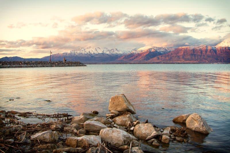 Mountain View do lago utah fotografia de stock