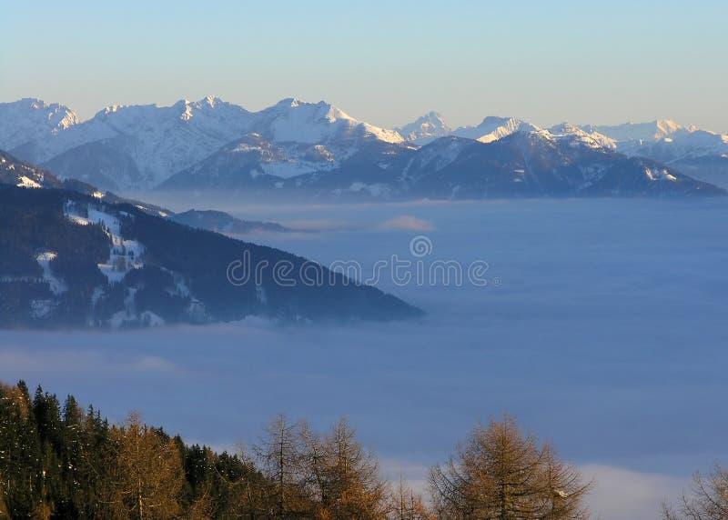 Mountain View em Áustria (Lienz) imagem de stock royalty free