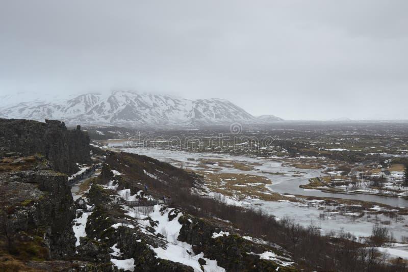 Mountain View em Islândia fotos de stock