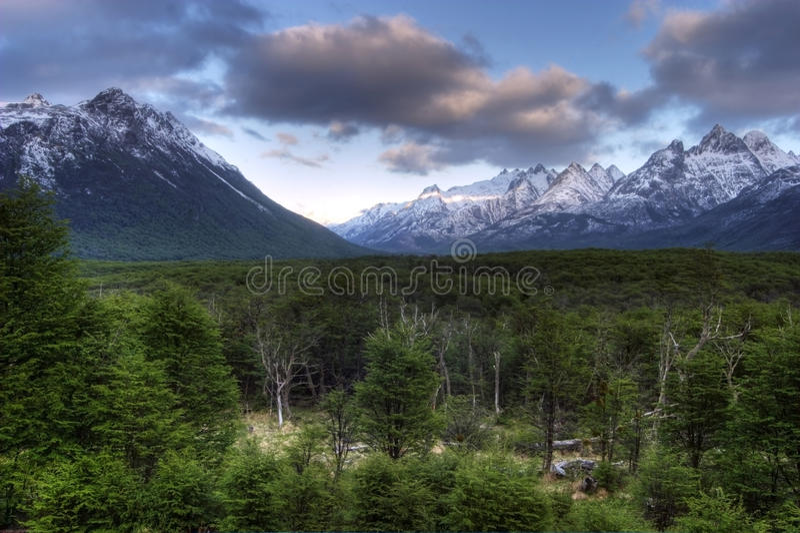 Mountain View em Tierra del Fuego, Argentina imagens de stock