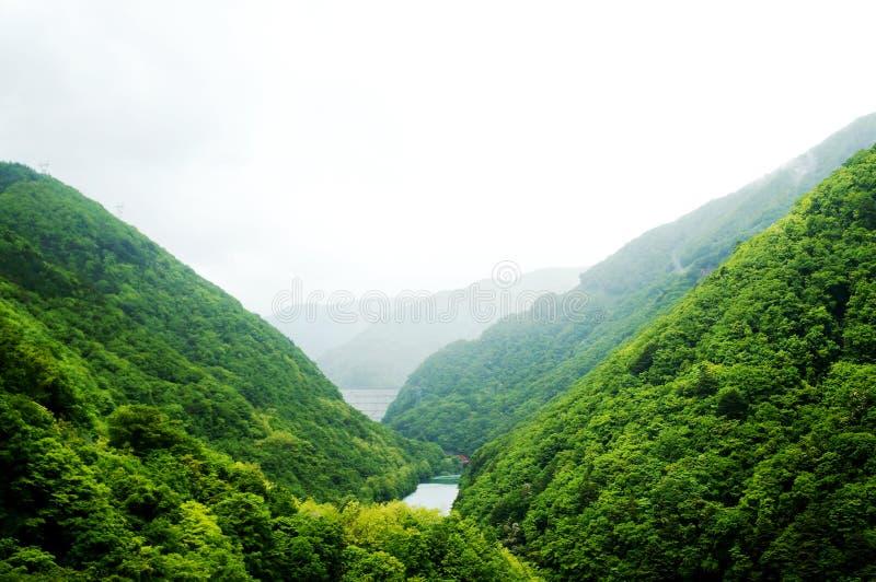 Mountain View en Takayama fotografía de archivo libre de regalías