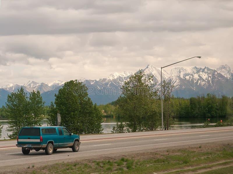 Mountain View en Wasilla, Alaska foto de archivo libre de regalías
