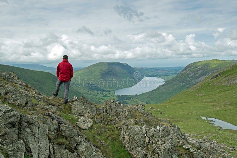 Mountain View English Lake District stock image