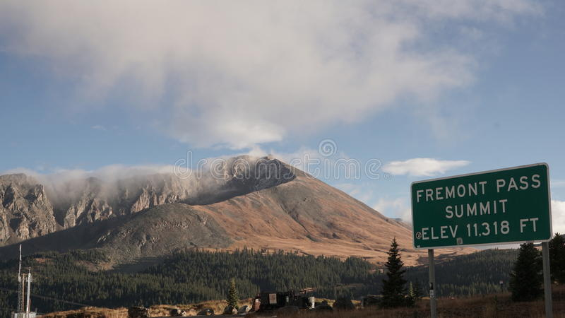 Mountain View of Fremont Pass Colorado stock images