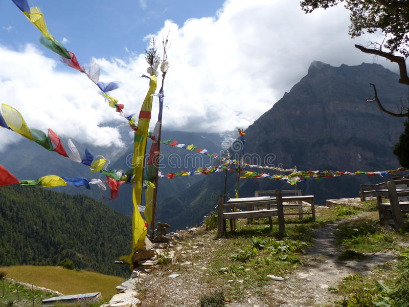 Mountain view from Ghyaru village royalty free stock image