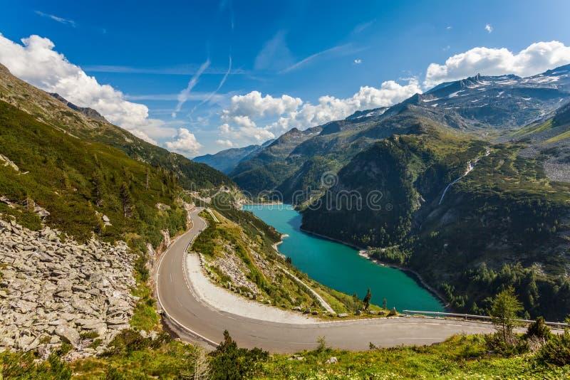 Mountain View hermosos - Maltatal, Austria. imagen de archivo