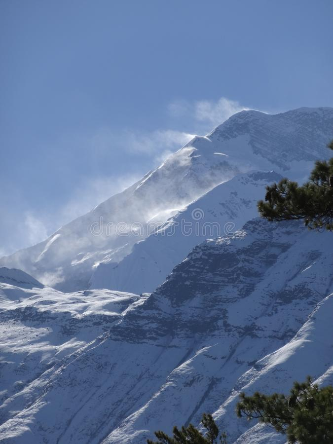 Mountain View himalayano, area di annapurna, immagini stock