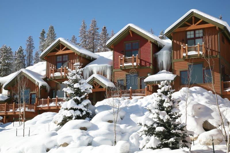 Mountain View horizontal d'hiver de parc d'hiver, le Colorado photographie stock