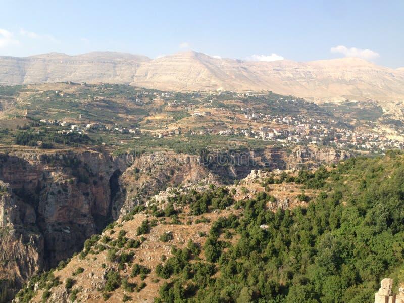 Mountain View Il Libano fotografia stock