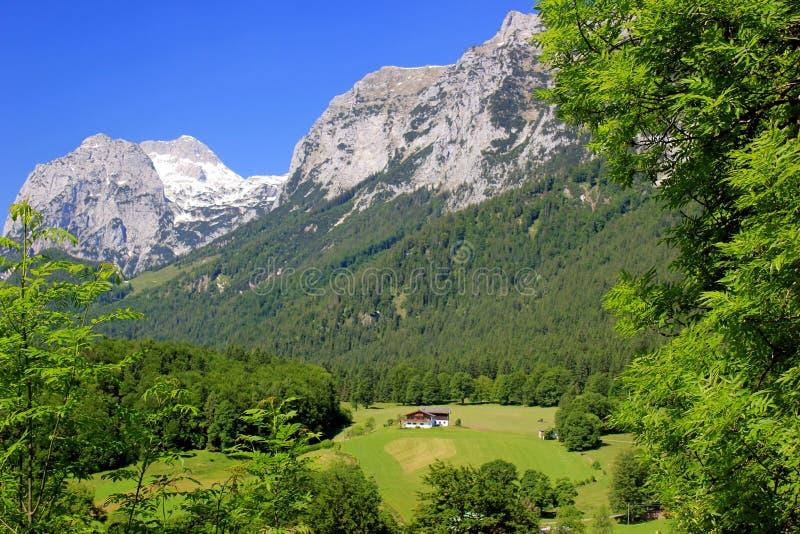 Mountain View im Bayern, Deutschland stockbild
