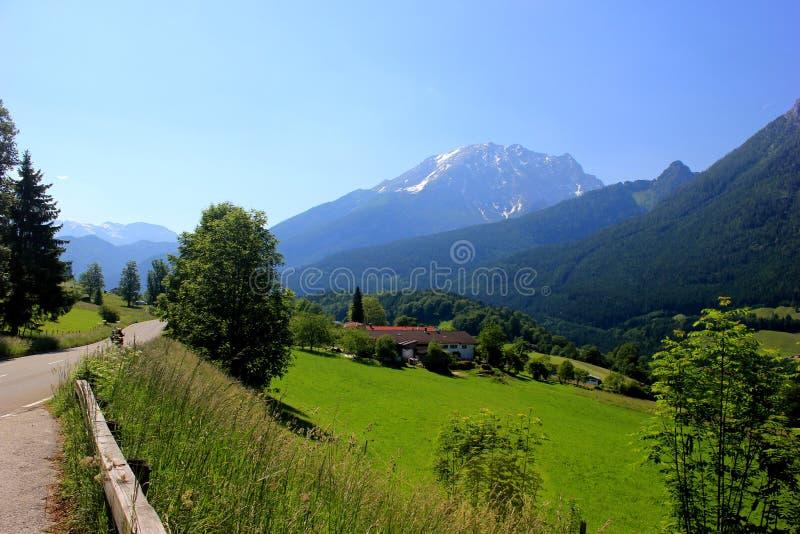 Mountain View im Bayern, Deutschland stockfotos
