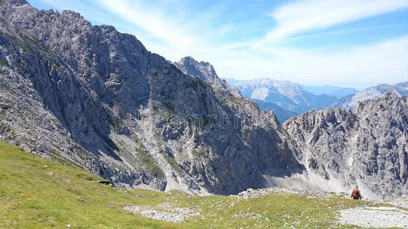 Mountain View Innsbruck Austria fotografia stock