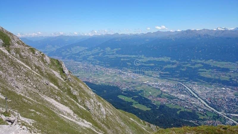 Mountain View Innsbruck Austria obrazy royalty free