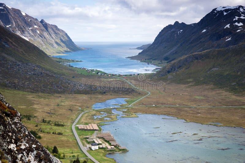 Mountain View - isole di Lofoten, Norvegia immagine stock libera da diritti