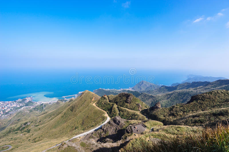 Mountain view in jinguashi, Taipei, Taiwan stock photography