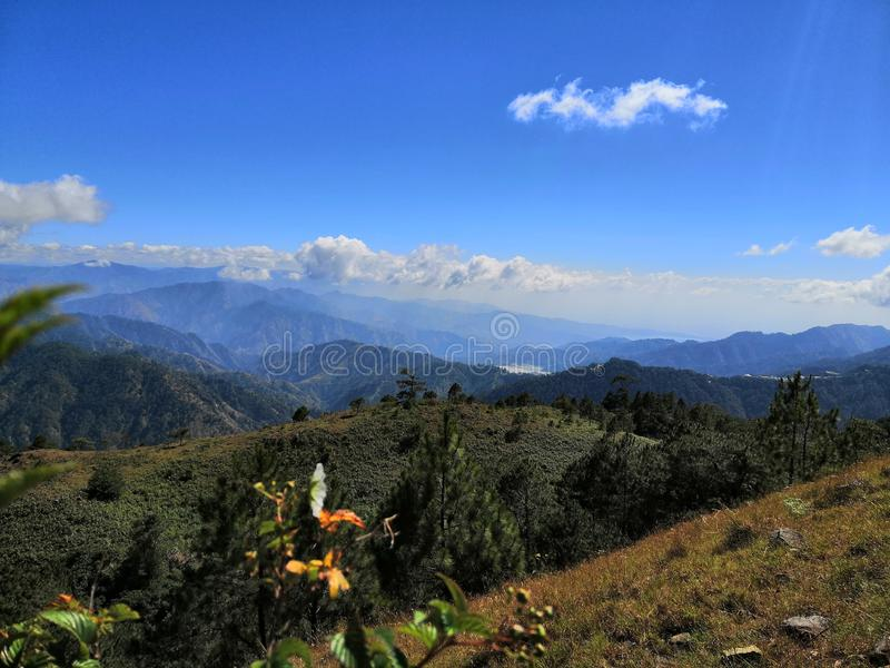 Mountain 1. View from mount ulap, philippines stock photos