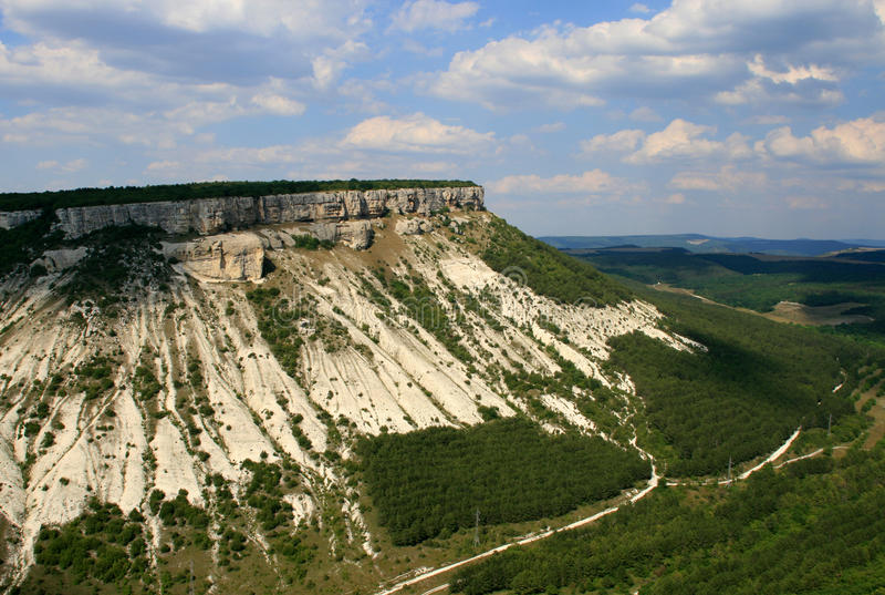 A mountain view near Bakhchisarai royalty free stock image