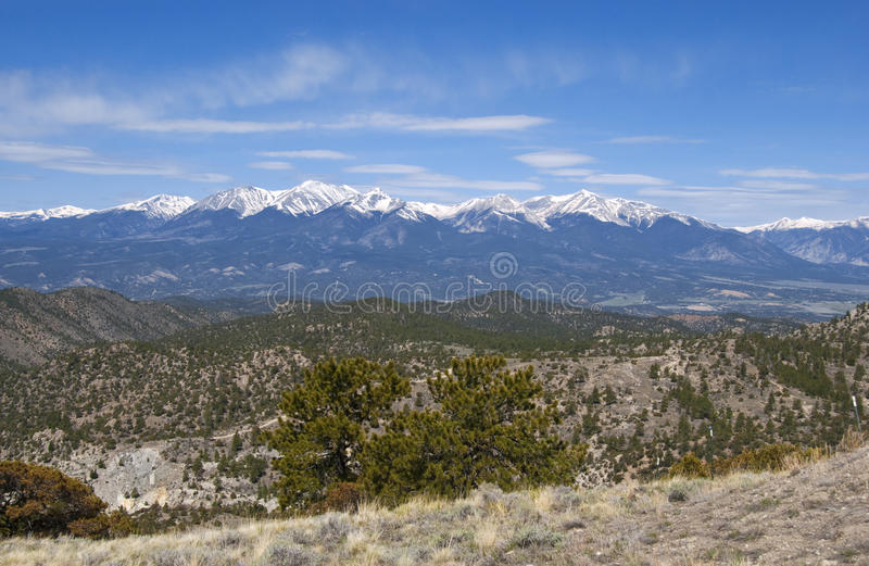 Mountain View nevado panorâmico fotos de stock
