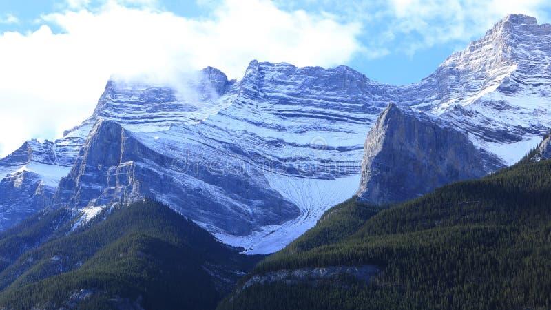 Mountain View no parque nacional de Banff em Alberta imagem de stock royalty free