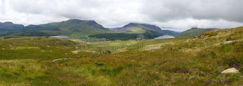 Mountain view panorama, Snowdonia stock photos