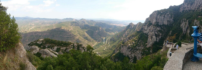 Mountain view. The view from Santa Maria de Montserrat royalty free stock image