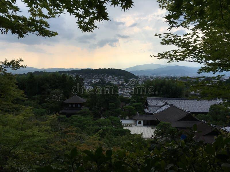 Mountain View scenico di panorama, Kyoto immagini stock libere da diritti