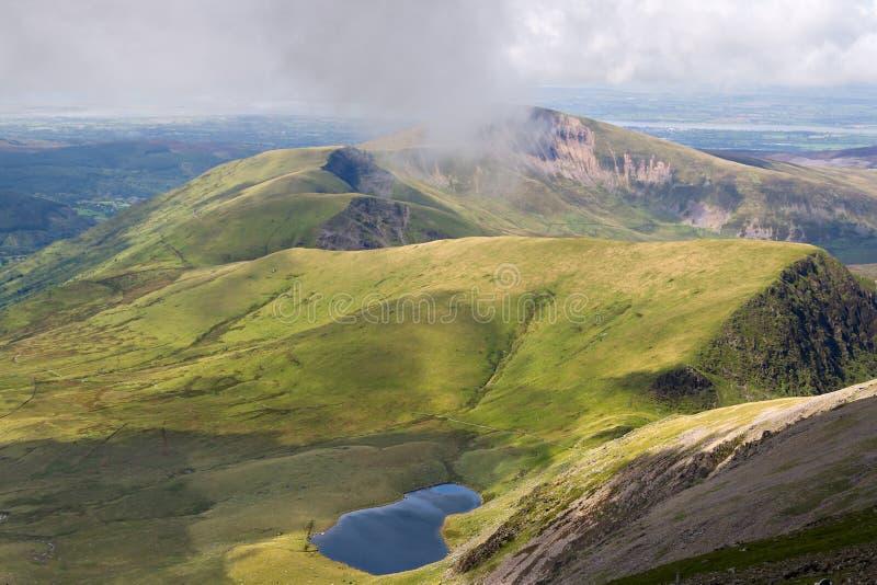 Mountain view from Snowdon stock photos
