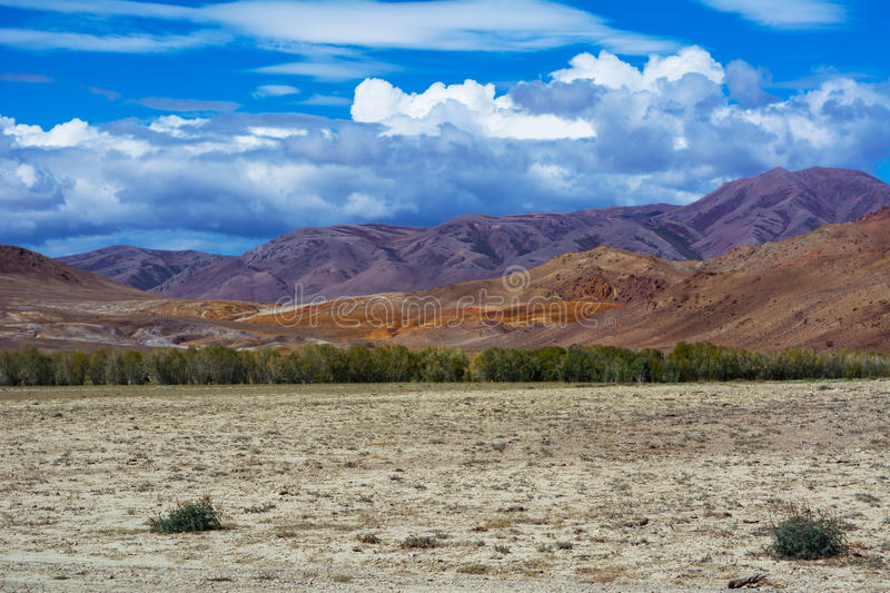 Mountain View steppe landscape royalty free stock images