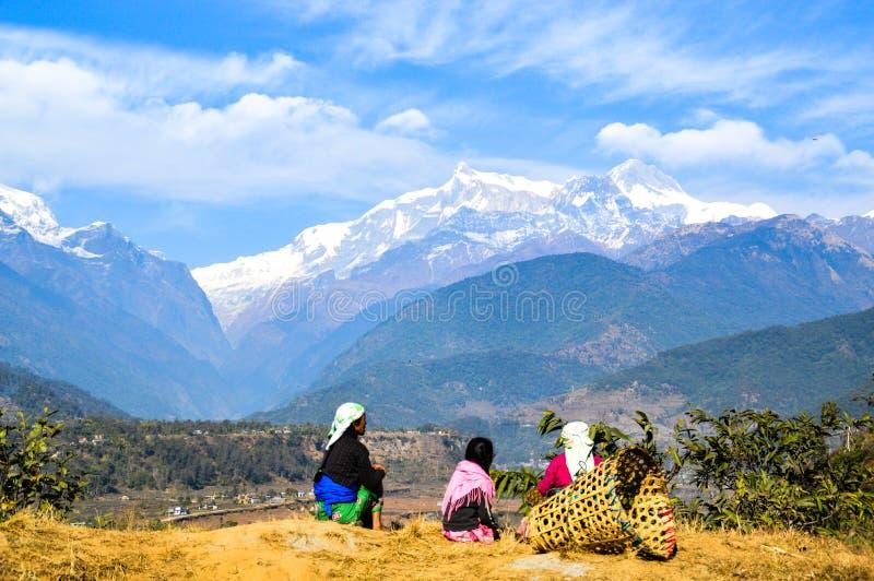 Mountain View sul lavoro fotografia stock