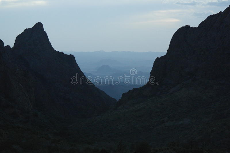 MOUNTAIN VIEW OF VALLEY royalty free stock images