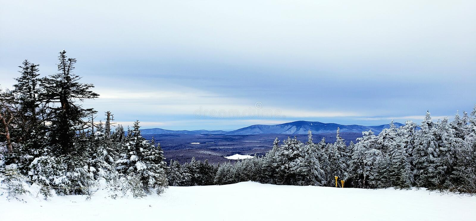 Mountain View in Winter stock image