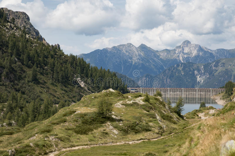Mountain view 3. A view of a wonderful treeking day in Val Brembana, Rifugio Calvi stock photos