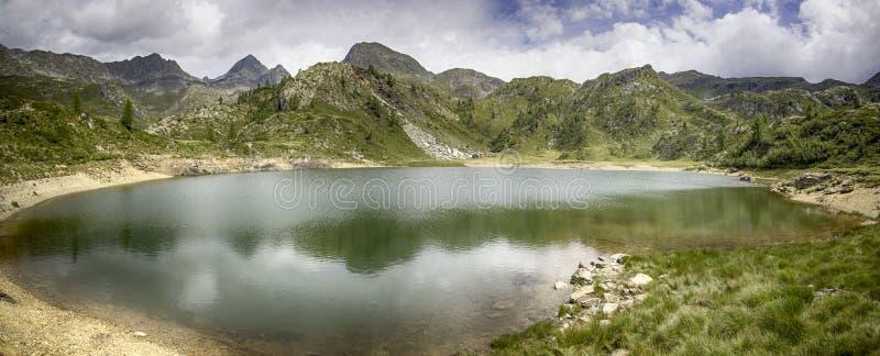 Mountain view 4. A view of a wonderful treeking day in Val Brembana, Rifugio Calvi royalty free stock image