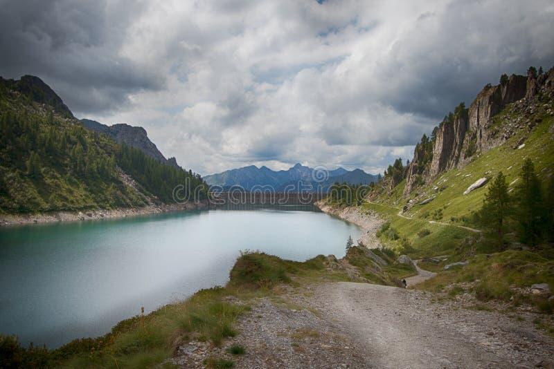 Mountain view 5. A view of a wonderful treeking day in Val Brembana, Rifugio Calvi royalty free stock photos