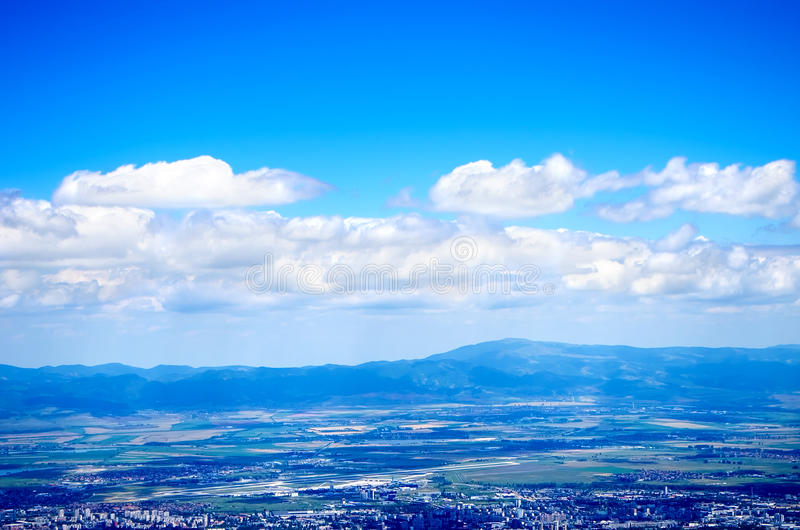 Mountain views. From the high to the big city stock photography