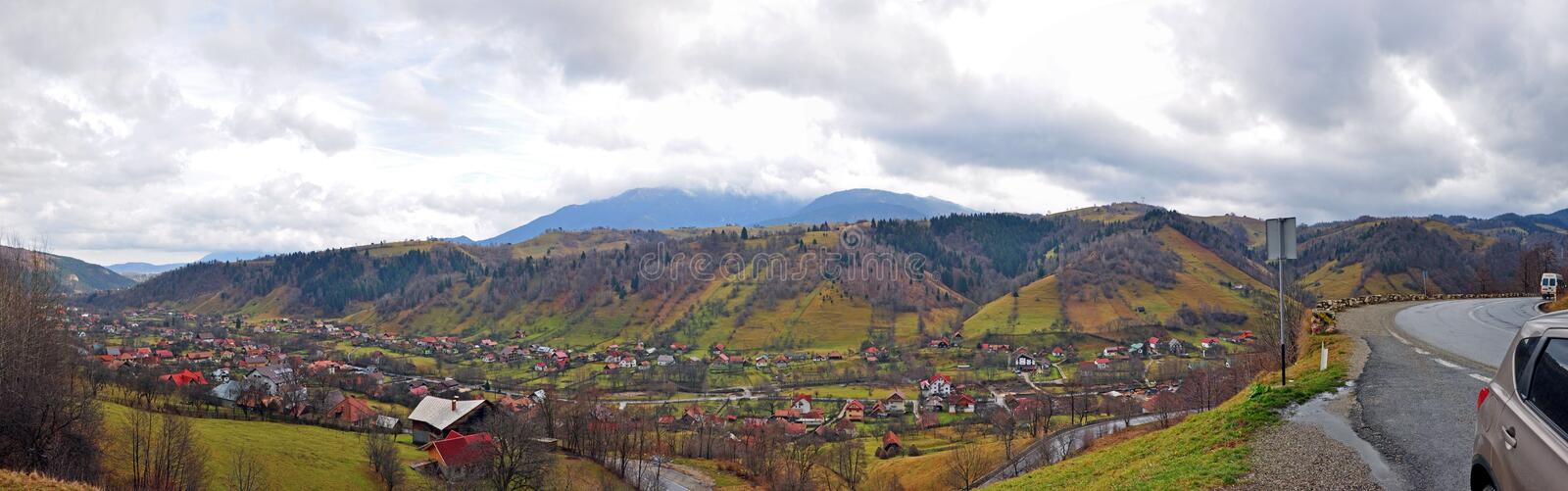 Download Mountain Village And 180 Degree Road Stock Image - Image: 17298457