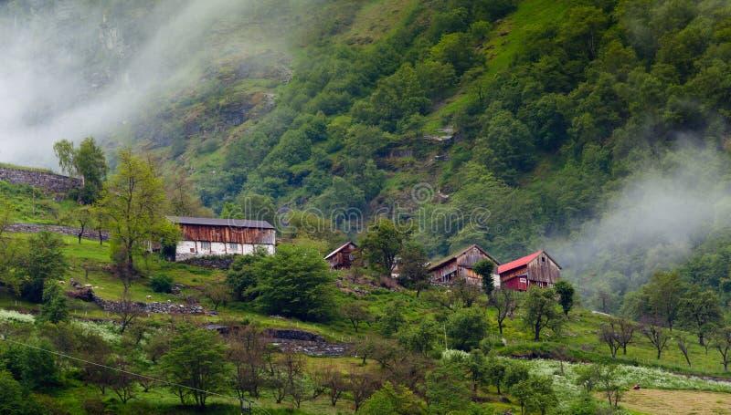 Mountain village stock photos
