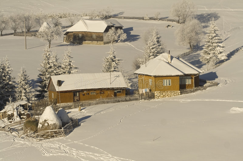 Download Mountain  Village Royalty Free Stock Images - Image: 7249979
