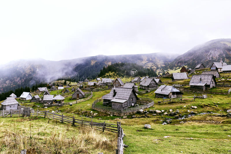 Mountain village royalty free stock photography