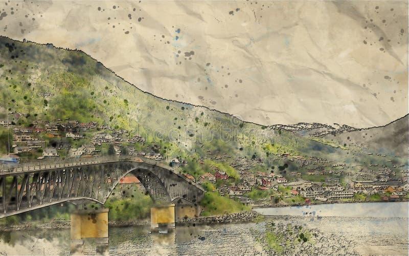 Mountain, Village, Bank, Landscape Free Public Domain Cc0 Image