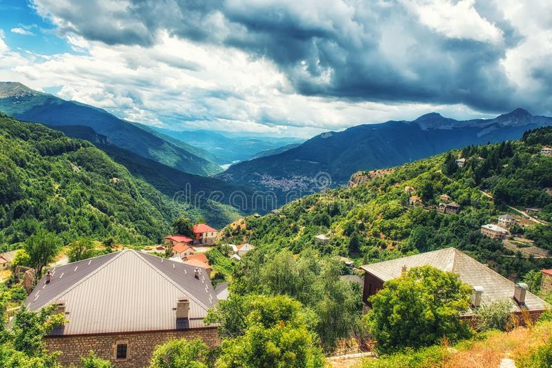 Landscape view of Mavrovo stock images