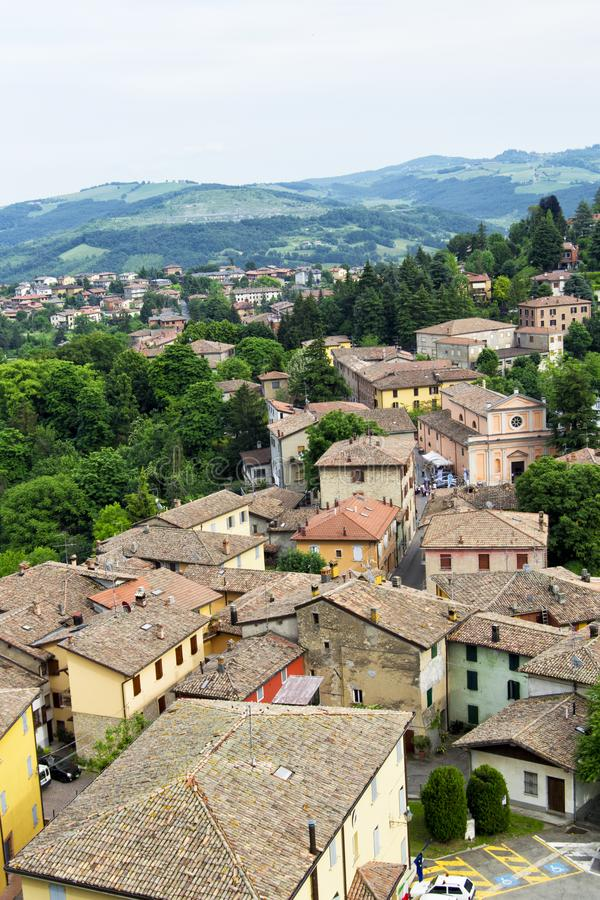 The mountain village of Guiglia. In the Province of Modena in the Italian region Emilia-Romagna stock photos