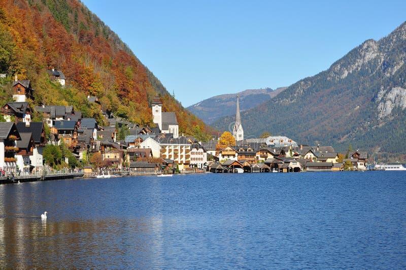 Mountain Village, Lake, Mountain Range, Water royalty free stock photography